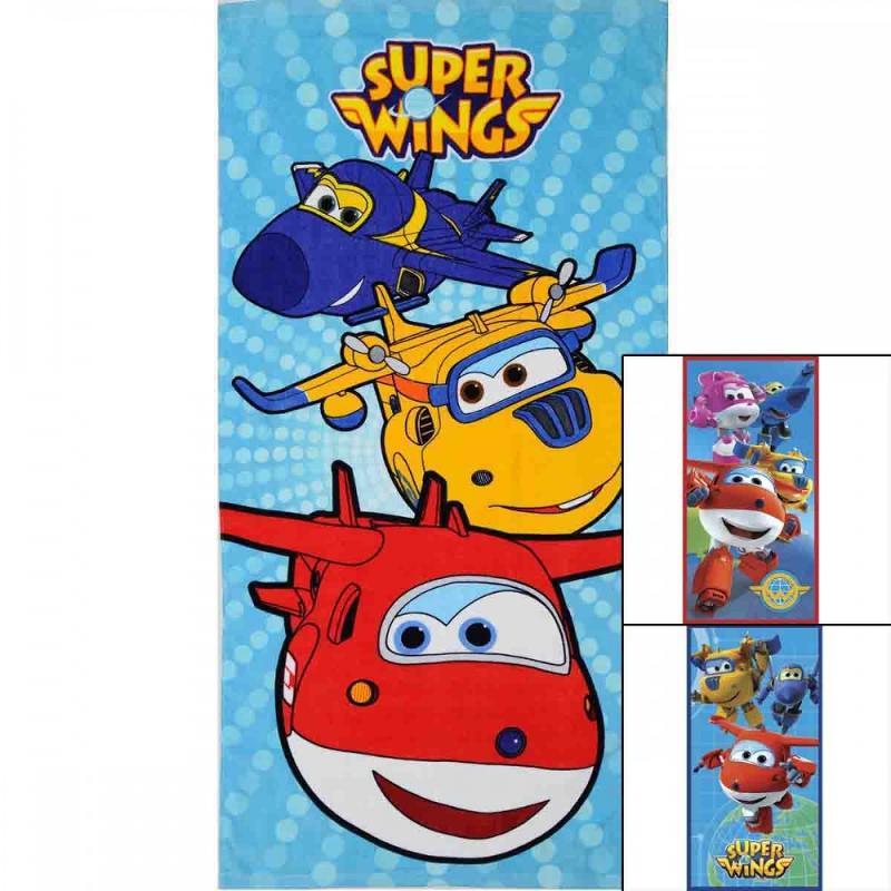 6x Serviettes de plage Super Wings 70x140 - Serviette