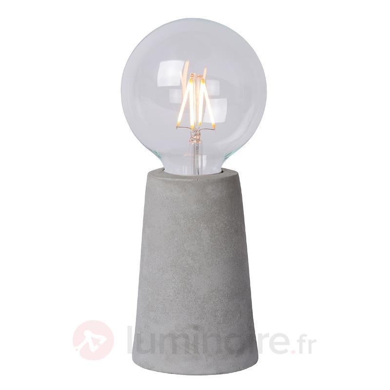 Lampe à poser LED Concrete, style épuré - Lampes à poser LED