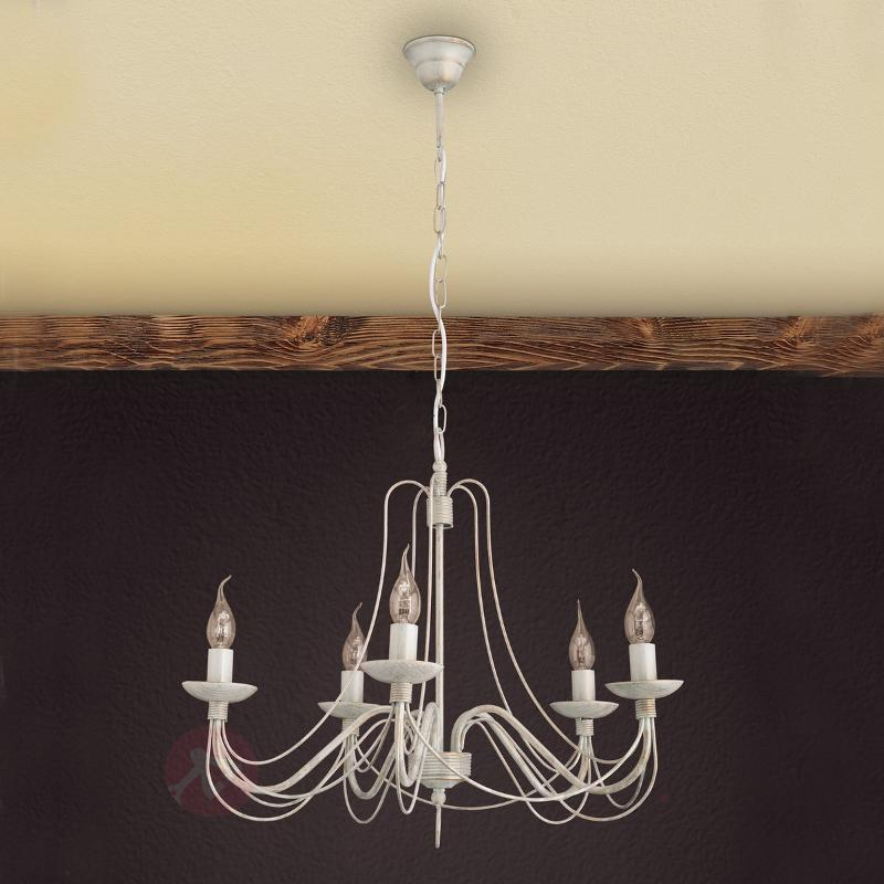 Joli lustre Antonina à 5 lampes - Lustres rustiques