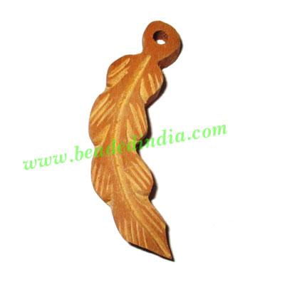 Handmade wooden fancy pendants, size : 45x12x7mm - Handmade wooden fancy pendants, size : 45x12x7mm