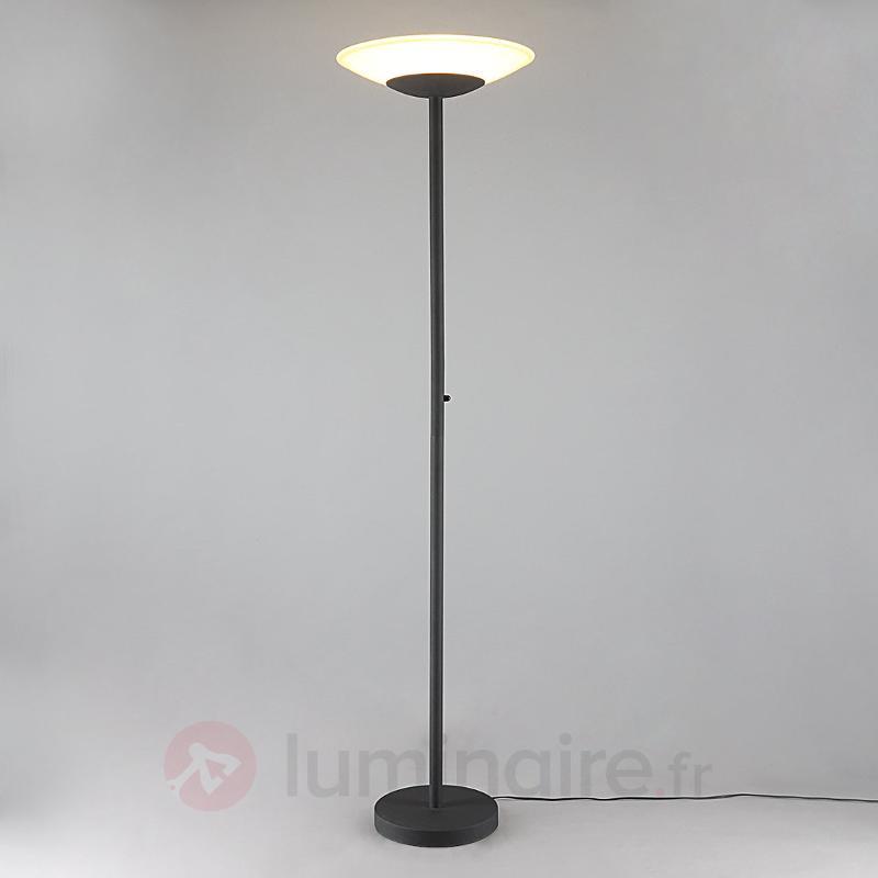 Luminaire Indirect destiné lampadaire led ragna de couleur rouille, lampadaires led à éclairage