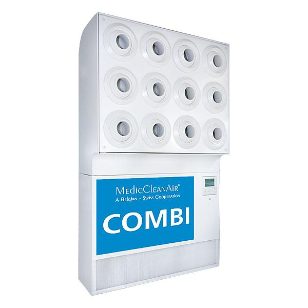 Combi - filtration, cooling, heating & positive pressure in one device