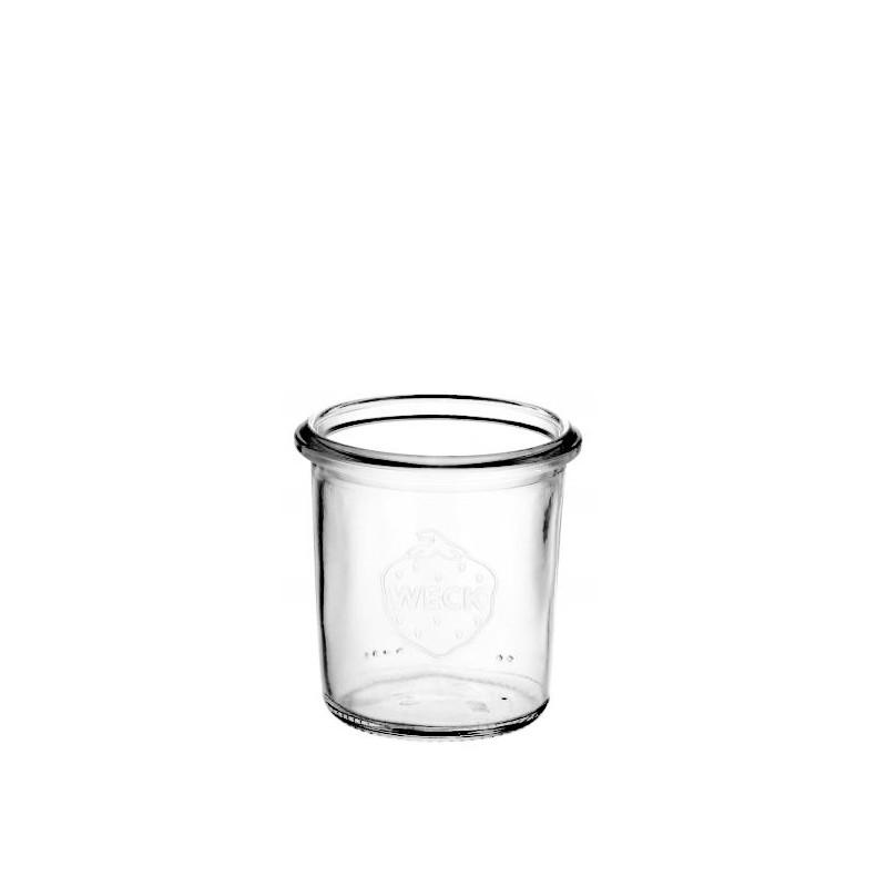 6 glass jars WECK 140 ml Mold shape  - without lid nor rubber ring (diam. 60 mm)