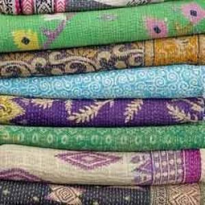 Vintage Handmade Jaipuri Quilt -