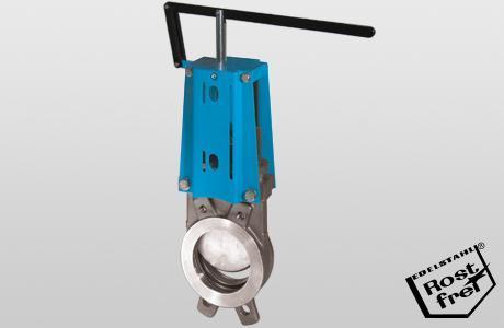 Knife-gate valve WGE-ML. - onedirectional - hand lever - 1.4408