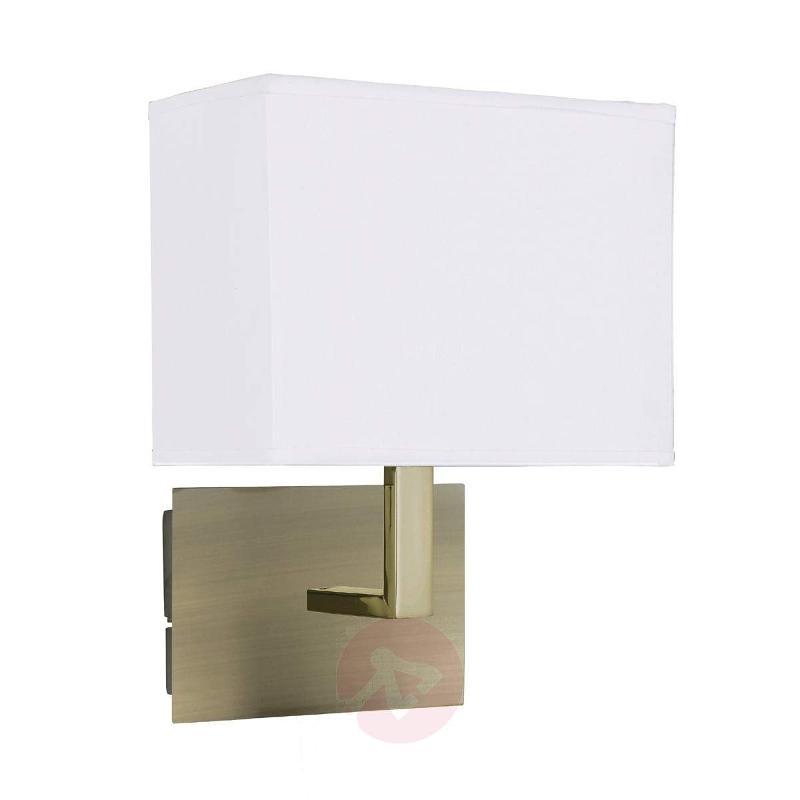 DARIO wall light with fabric lampshade - Wall Lights