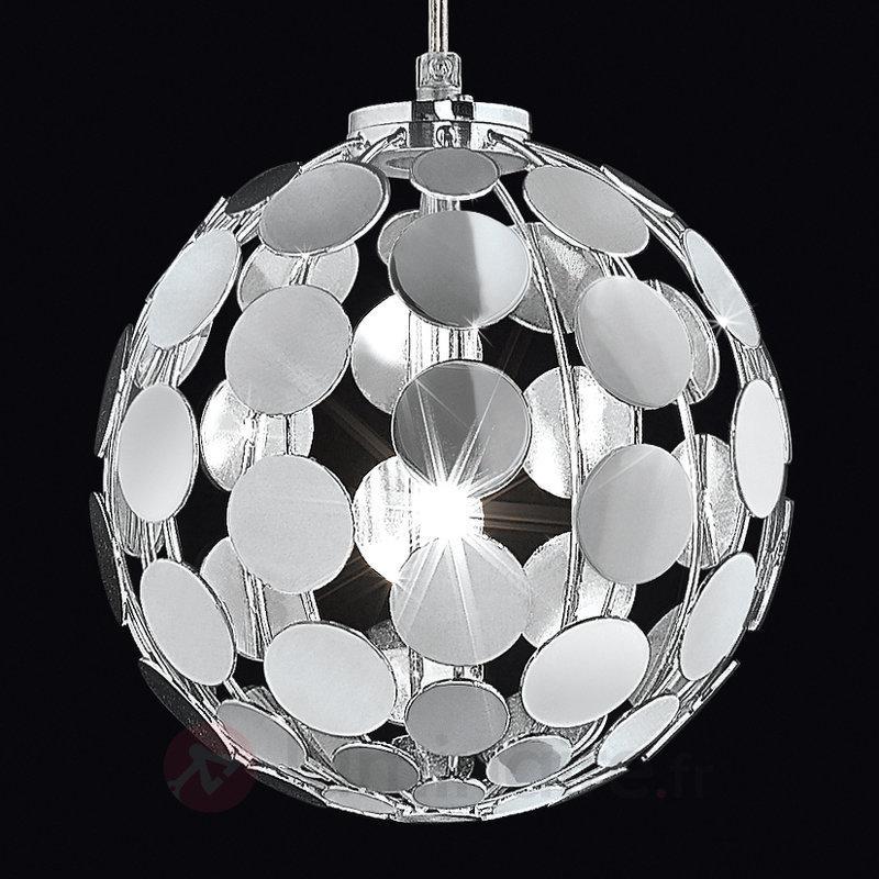 Étonnante suspension chromée SFERA diamètre 20 cm - Toutes les suspensions