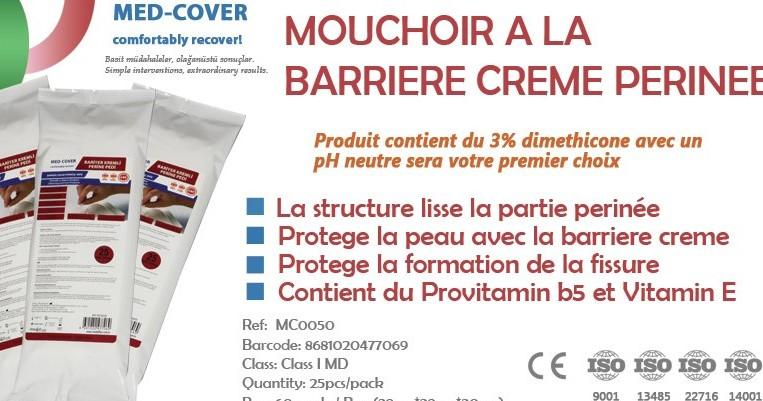 MED-COVER MOUCHOIR A LA CREME BARRIERE PERINE