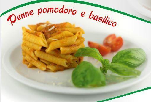PENNE POMODORO E BASILICO - null