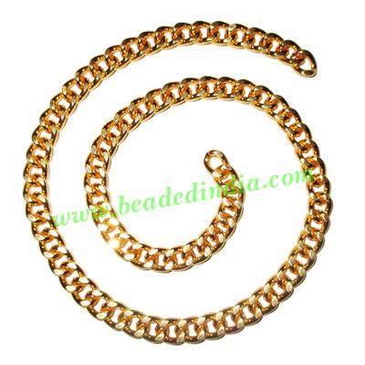 Gold Plated Metal Chain, size: 1.5x6.5mm, approx 10.6 meters - Gold Plated Metal Chain, size: 1.5x6.5mm, approx 10.6 meters in a Kg.