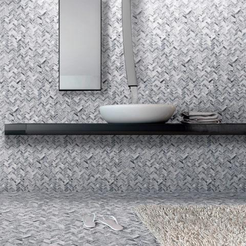 Taylor Collection - Marble mosaic herringbone