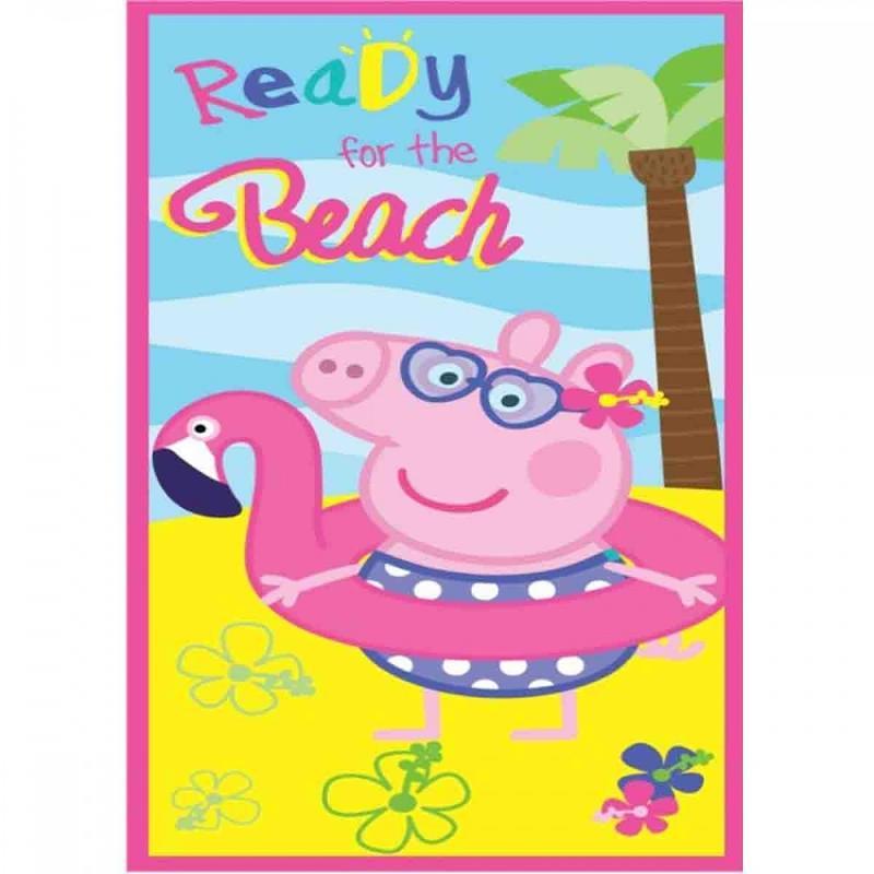 6x Serviettes de plage Peppa Pig 70x140 - Serviette