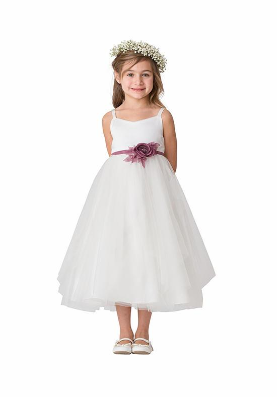A-line Tulle Flower Girl Ivory Dress