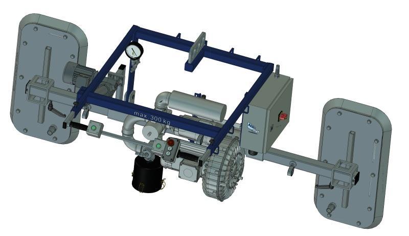Vacuum lifting device with bower type AERO-PORO - null