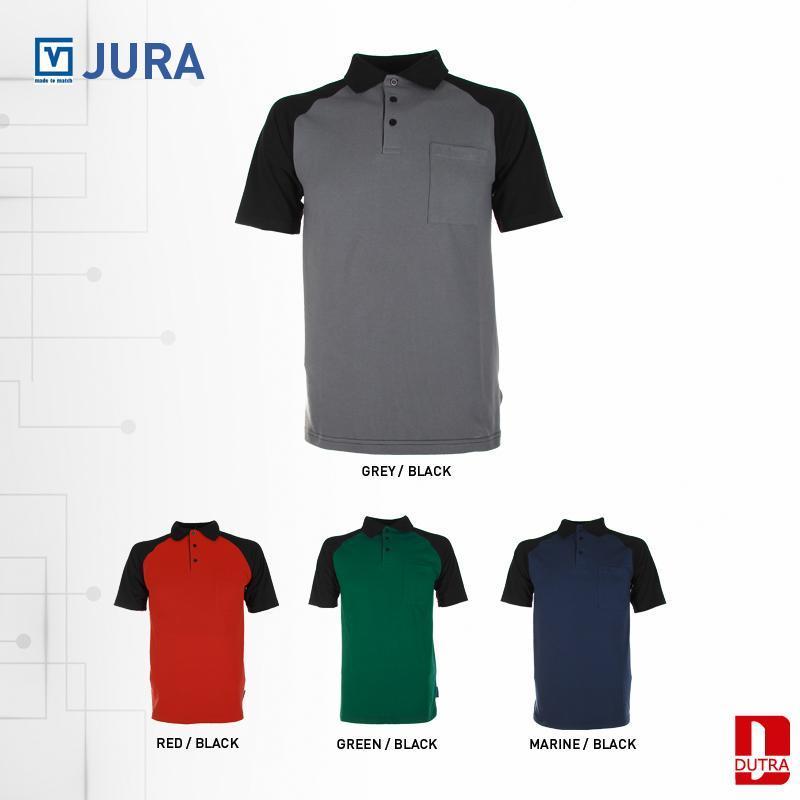 Polo de travail Jura - Polo bicolore solide au look sportif