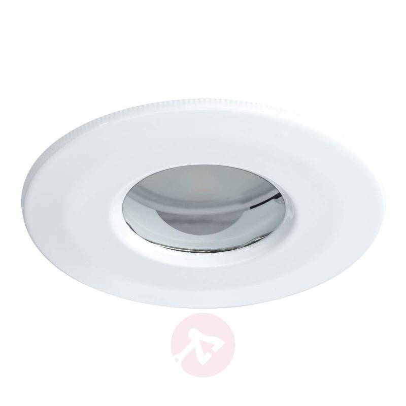 LED recessed light Coin round IP65 white set of 3 - Recessed Spotlights