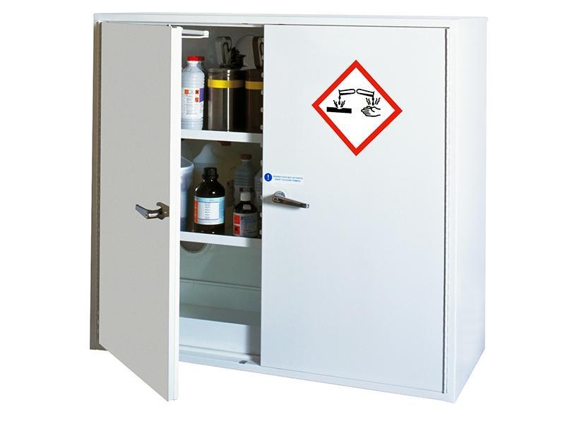 Armoire sécurisée pour corrosifs - Armoire 2 portes -... - ARMCOISDP110-120 Armoires de sécurité