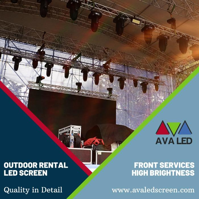 戶外租賃系列LED顯示屏 - P2.6 - P2.97 - P3.91 - P4.81 租賃箱 AVA LED 顯示屏