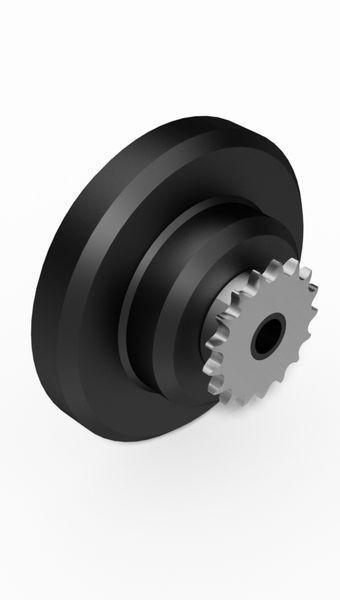 Fliehkraft-Kupplung mit Kettenrad - Fliehkraft-Kupplung mit Kettenrad / Kartkupplung