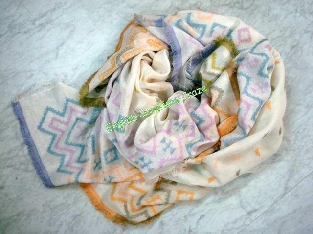 Silk Cashmere Modal Jacquard Scarves - Silk Cashmere Modal Jacquard Scarves