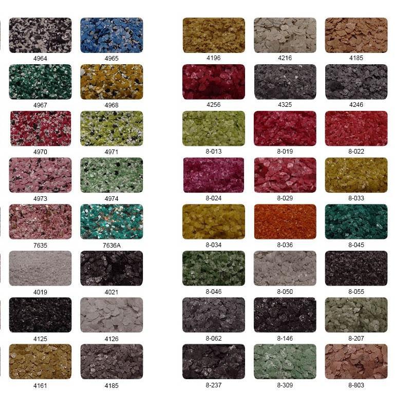 Цветные пластинки, чашуйки - Хлопья, пигменты, добавки, неорганические материалы, полимеры