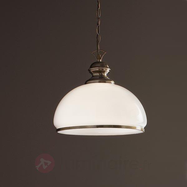 Suspension à 1 lampe HARVEY en laiton ancien - Cuisine et salle à manger