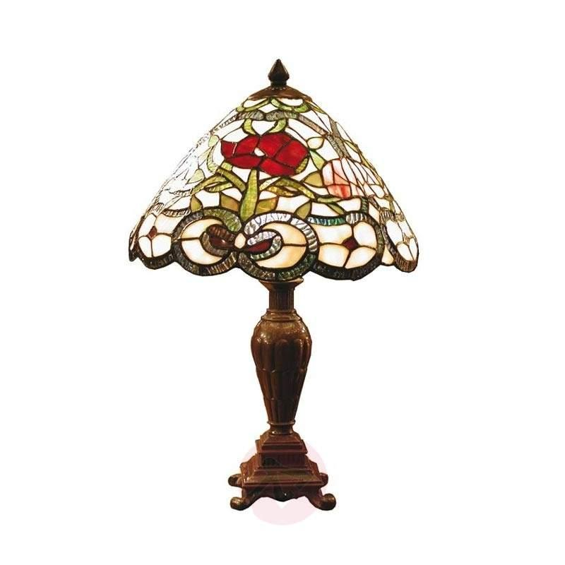 Flora classic table lamp in the Tiffany style - Table Lamps