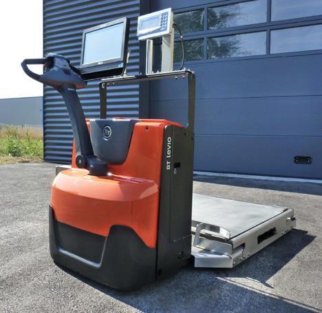 Chariot peseur mobile 1T