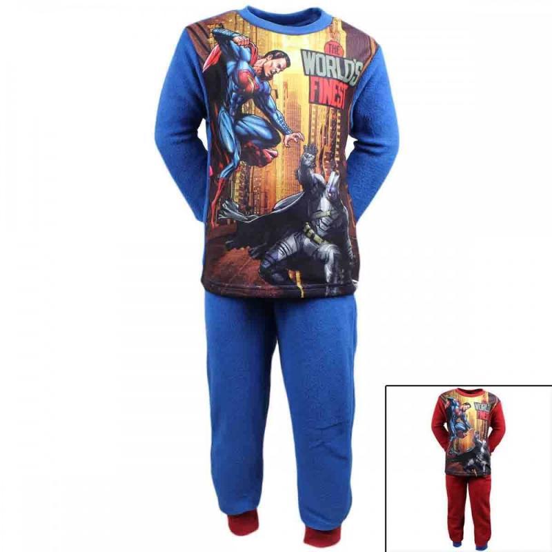 10x Pyjamas polaire Batman-Superman du 4 au 8 ans - Pyjama