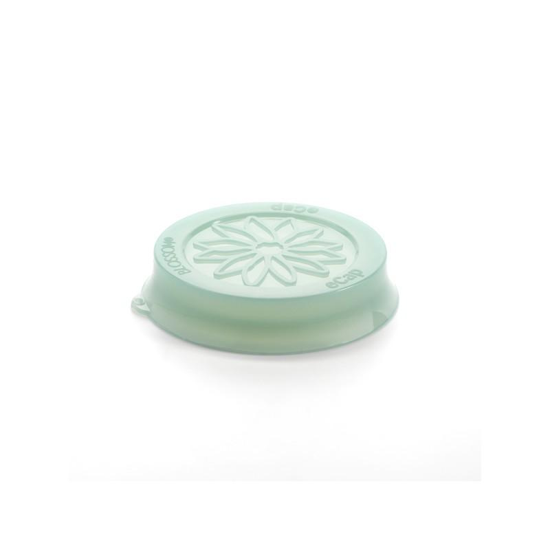 Accessori WECK® - Cuffia in silicone Blossom eCAP Storage, diametro 60 mm, colore verde per vasi