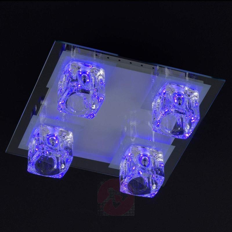 Vision LED multicolour ceiling light with 4 bulbs - Ceiling Lights