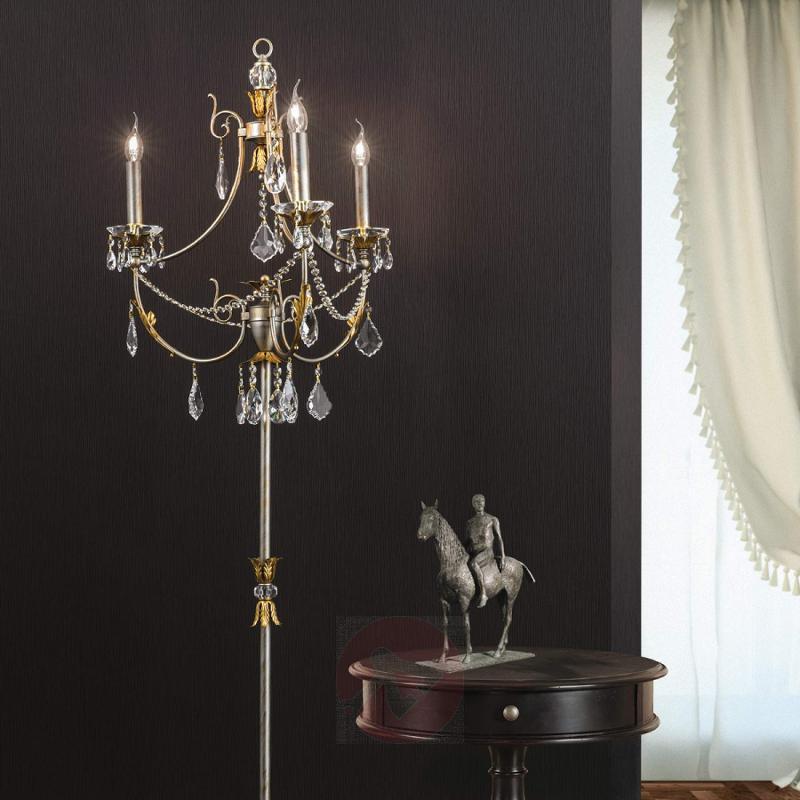 Silver-gold floor lamp Miramare - design-hotel-lighting