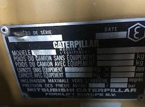 Carretilla elevadora  - Carretilla Caterpillar 2000kgs
