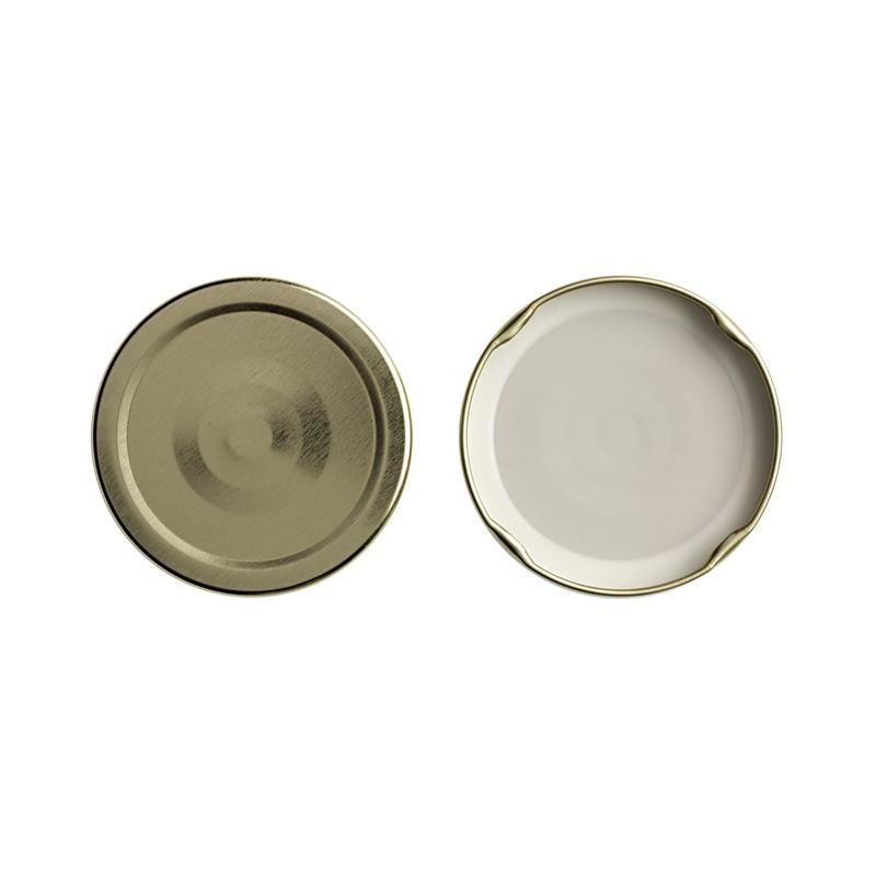 100 caps TO 48 mm Gold color for sterilization with flip - GOLD