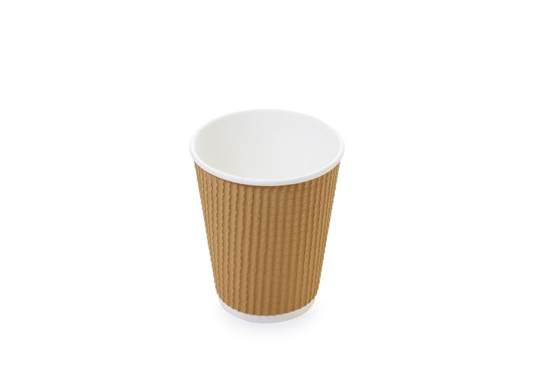 """""""Spotted"""" cups for hot beverages - Kraft cups for coffee and hot beverages"""