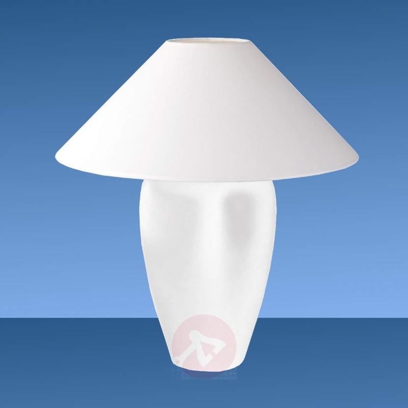 Classic table lamp Roma, white - Table Lamps