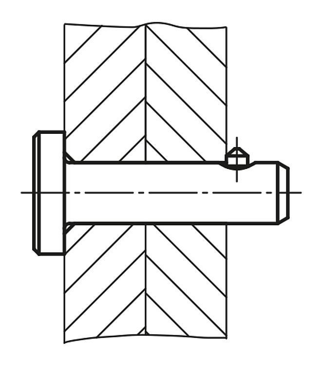 Axe de fixation avec blocage axial - Goupille d'arrêt