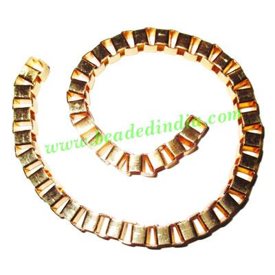 Gold Plated Metal Chain, size: 6mm, approx 10.8 meters in a  - Gold Plated Metal Chain, size: 6mm, approx 10.8 meters in a Kg.