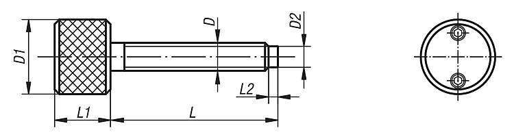 Vis dynamométrique à téton - Vis dynamométriques et inserts taraudés