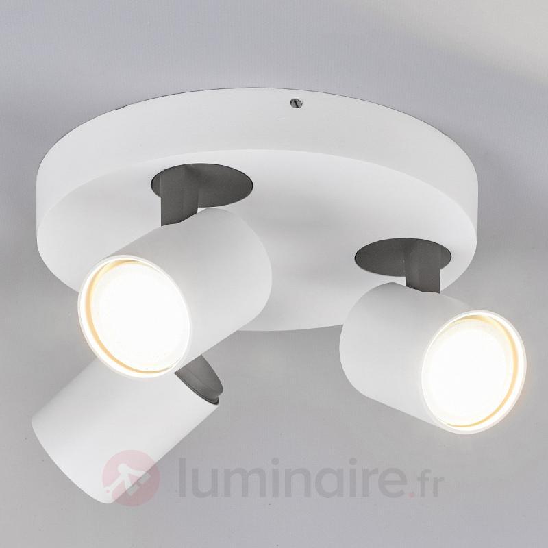 Plafonnier LED rond Sean à trois lampes - Plafonniers LED