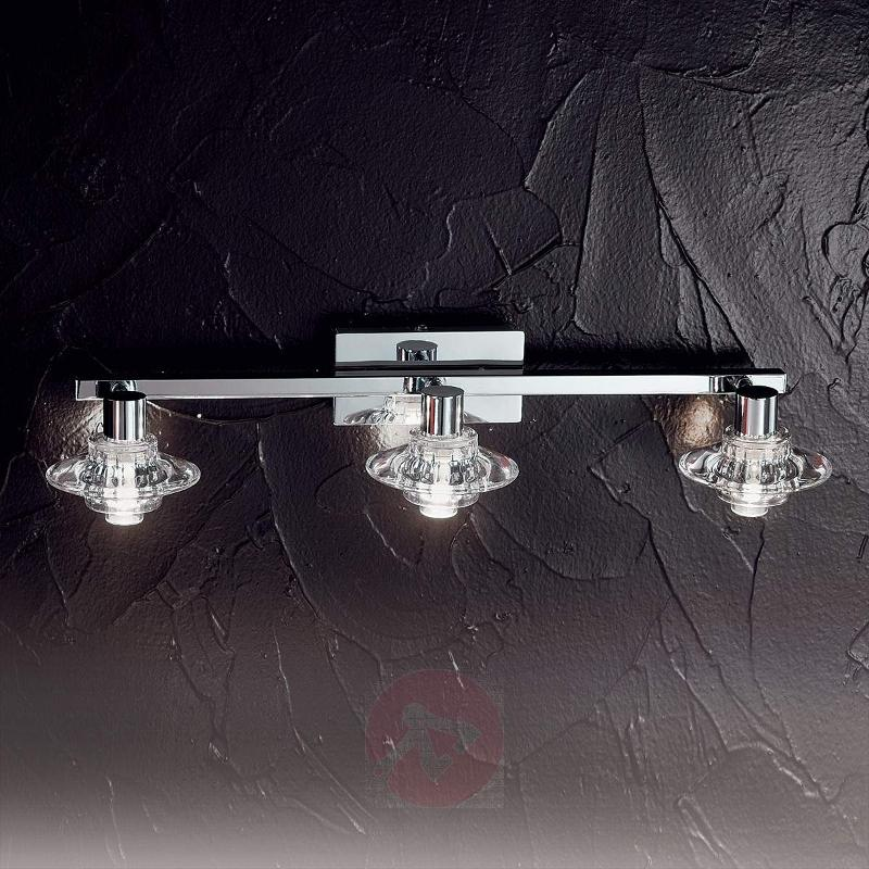 Mia Wall Light Three Bulbs with Crystal Glasses - Wall Lights