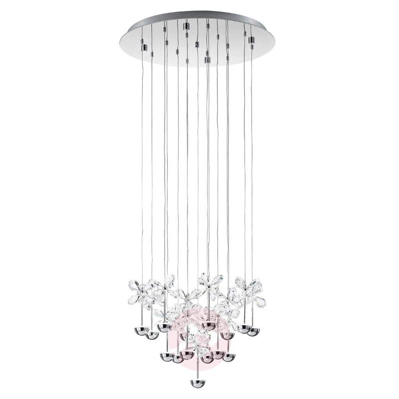 Pianopoli Round Crystal Pendant Lamp with LEDs - Pendant Lighting