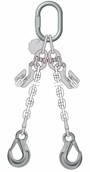 Anschlagketten DoKettPlus-2017, 2-strängig, Güteklasse 10 - Anschlagketten Güteklasse 10