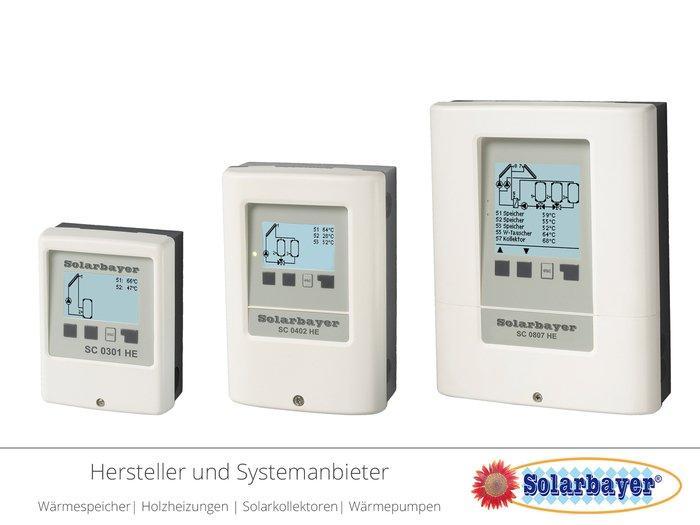 Solarbayer Solarsteuerungen / Solarregler - Einkreis und Mehrkreis