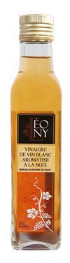 Vinaigre de Vin Blanc BIO Aromatisé Noix  - 6 % d'acidité LEONY