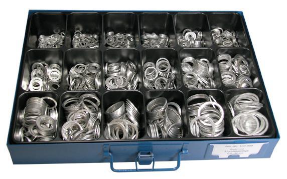 Assortment alu gaskets 6-30 mm - Assortments