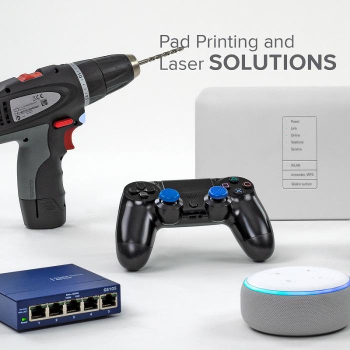Applikationen für die Elektro-Industrie - Applikationen für die Elektro-Industrie mit Tampondruck und Lasermarkierung