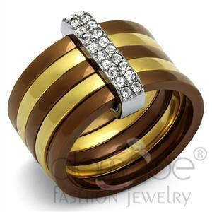 Fashion Rings - Stainless Steel Top Grade Crystal Ring