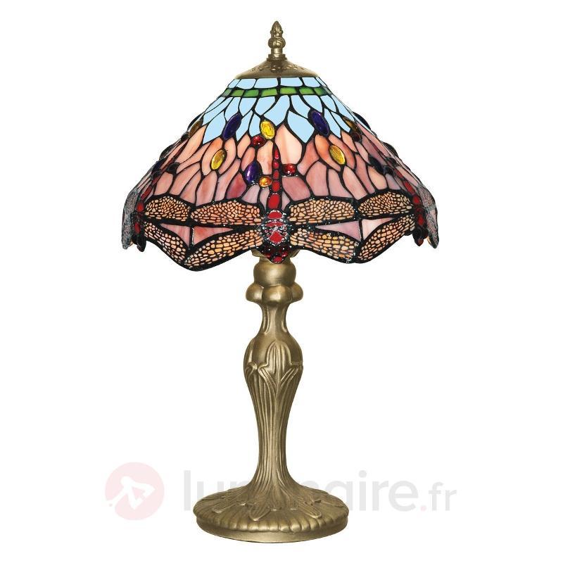 Lampe poser classique DRAGONFLY de style Tiffany - Lampes à poser style Tiffany