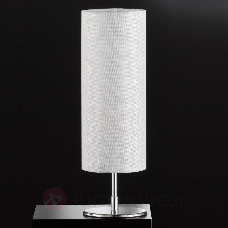 Lampe à poser intemporelle Fun, abat-jour blanc - Lampes à poser en tissu